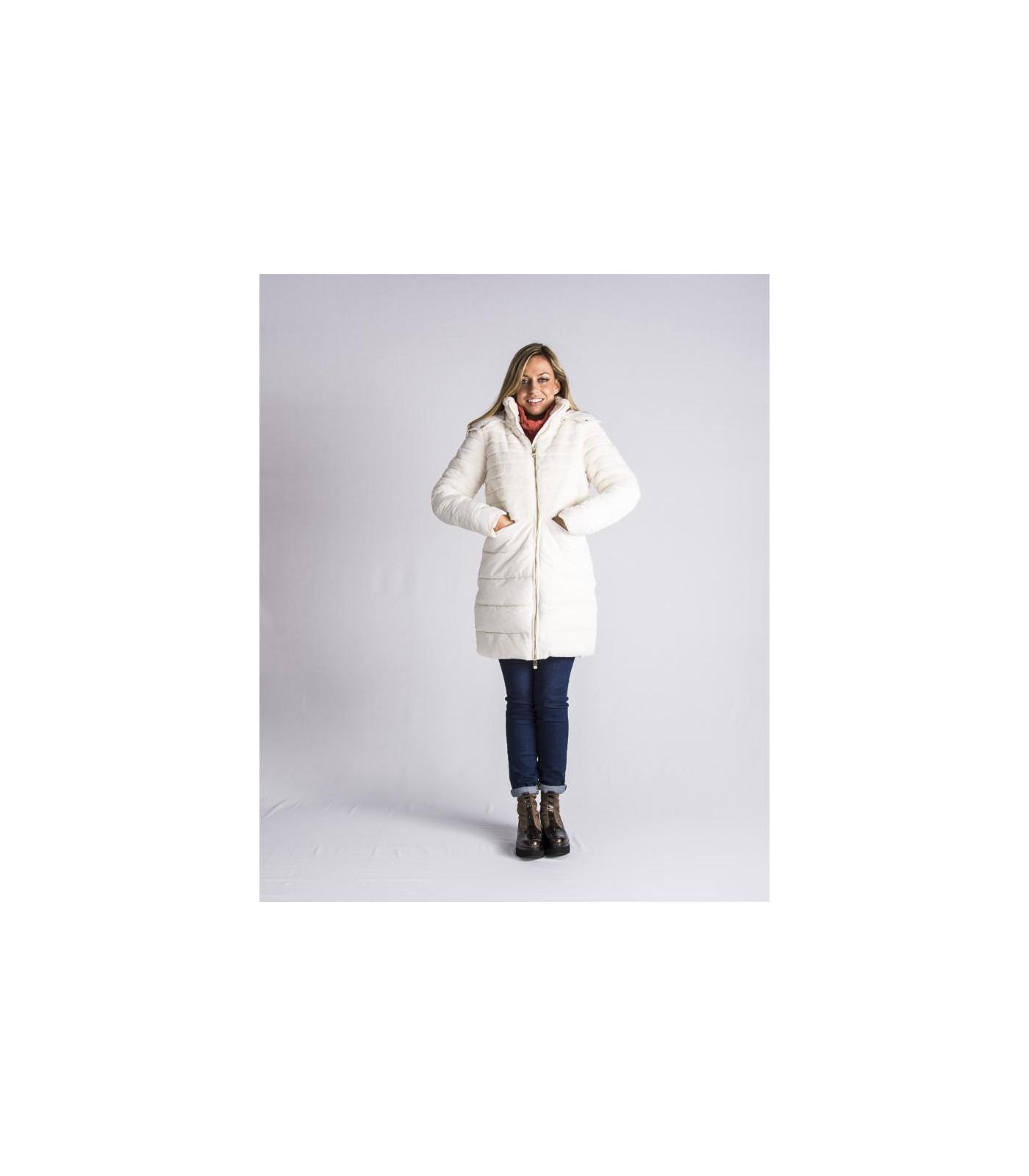Lola Calzado Y Salsa Moda Plumas Blanco En Abrigo FnRB1x