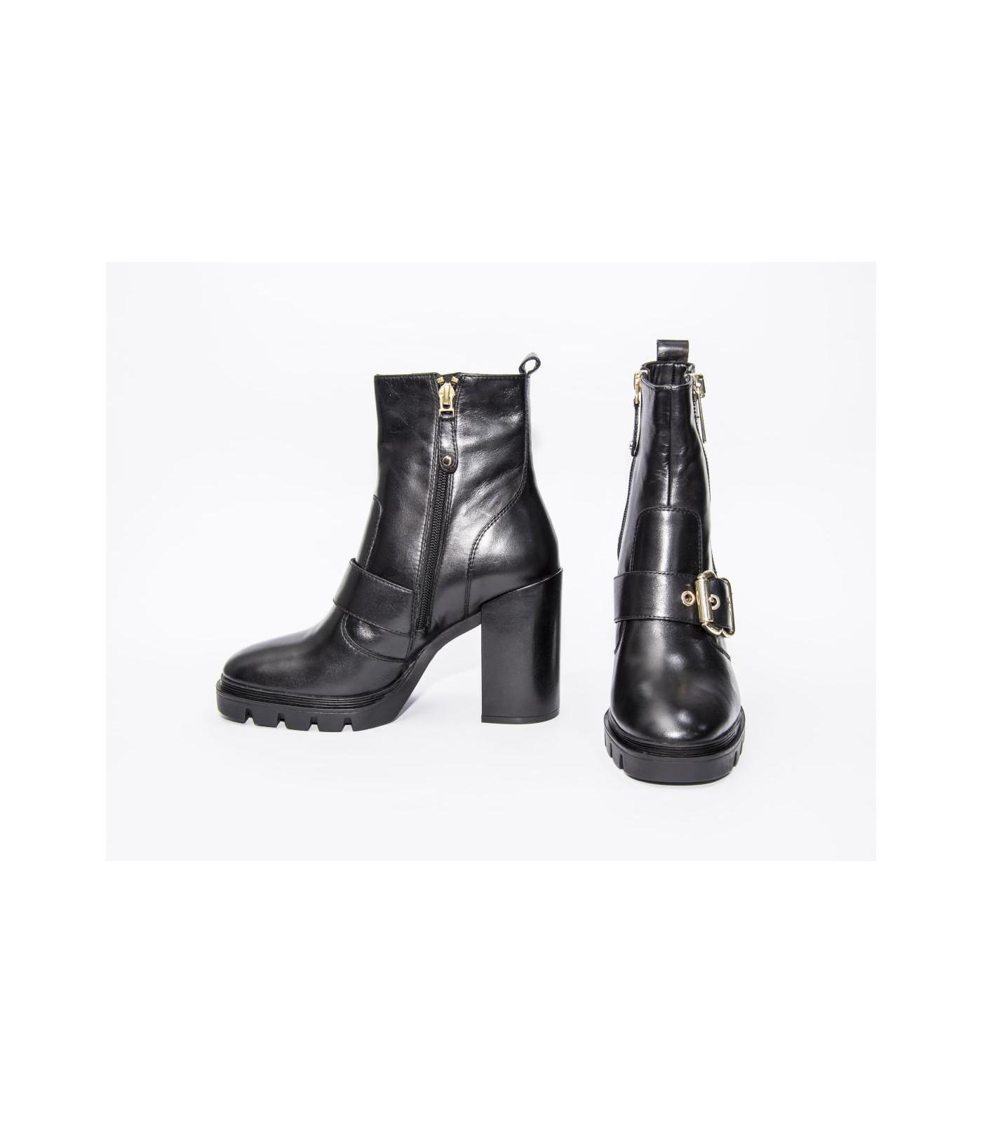 Moda Dorada Lola Calzado Negro Hebilla Con J3tcf1lk Botín Y NkP8XnwO0