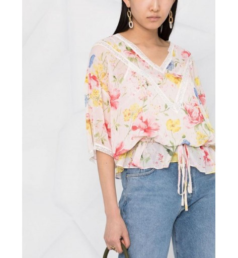 BLUSA TWIN SET ESTAMPADA