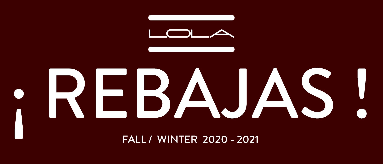 REBAJAS FALL / WINTER 2020 - 2021